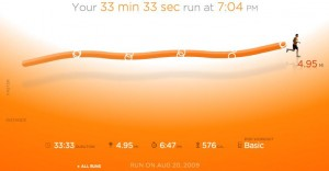 I think the visuals in Nike+ are cool, but not sure what else. DailyMile FTW!