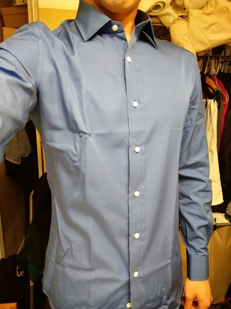 Mtailor custom tailored dress shirts app review trail for How much to get a shirt tailored